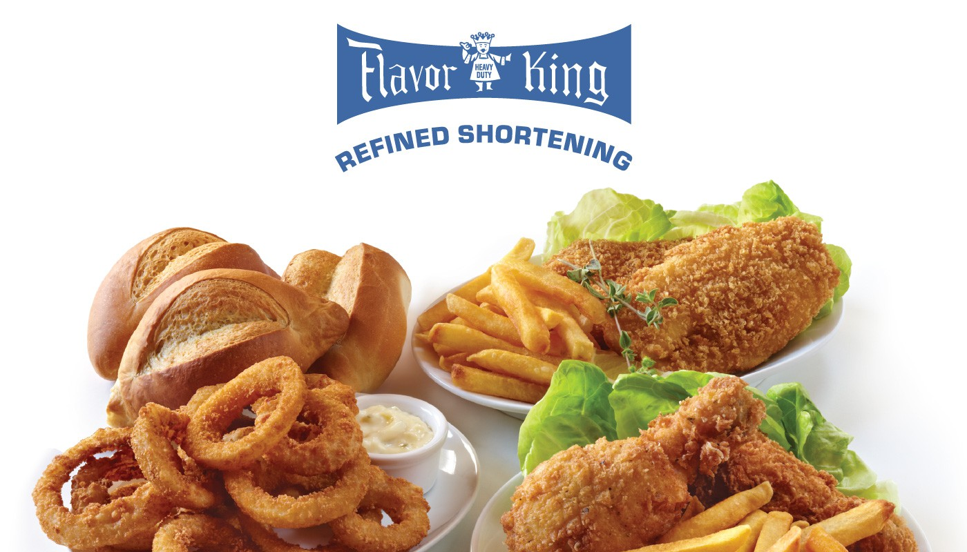 Food Made withFlavor King Refined Shortening