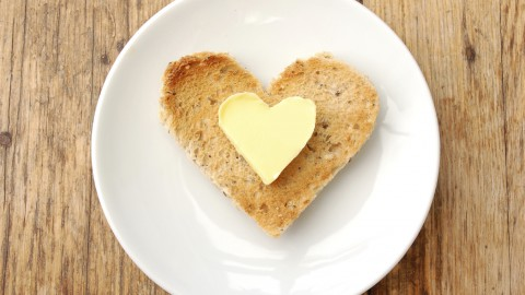 Heart Shaped Butter on Heart Shaped Toast