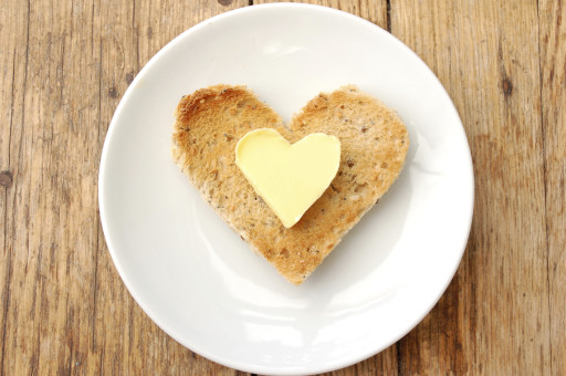 Heart Shaped Butter on Heart Shaped Toast