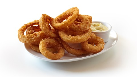 Onion Rings on a Plate