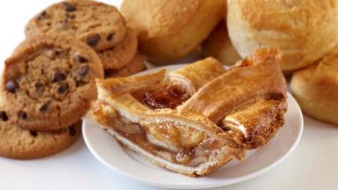 Slice of Pie and Other Baked Goods