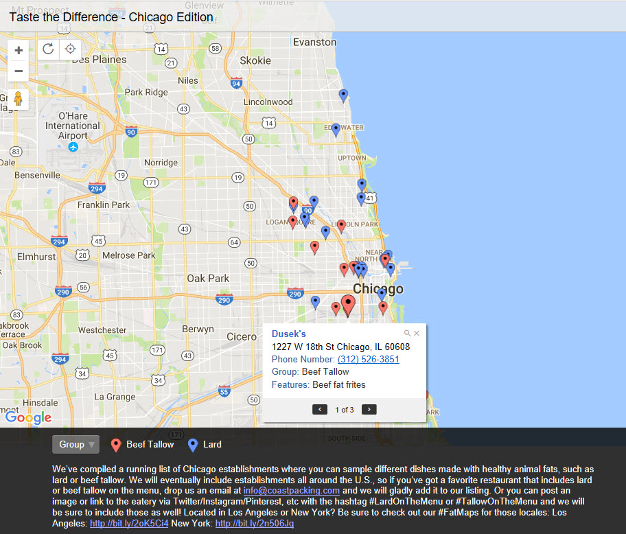 CHICAGO FAT MAP DINING GUIDE #TastetheDifference