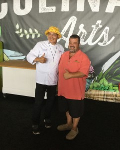 (July 2017) Chicken Charlie and Chef Ernie at Coast Packing's Taste the Difference Challenge at the OC Fair!