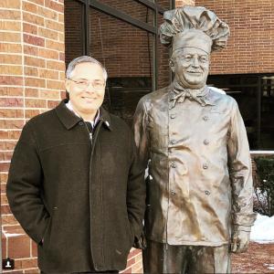 (Dec 2107) Chef Ernie with Chef Boyardee in Omaha, Nebraska.