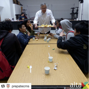 (May 2018) Chef Ernie at Prepa Tec Middle School for Career Labs Day, a great way for the students to meet people who are in different professions!
